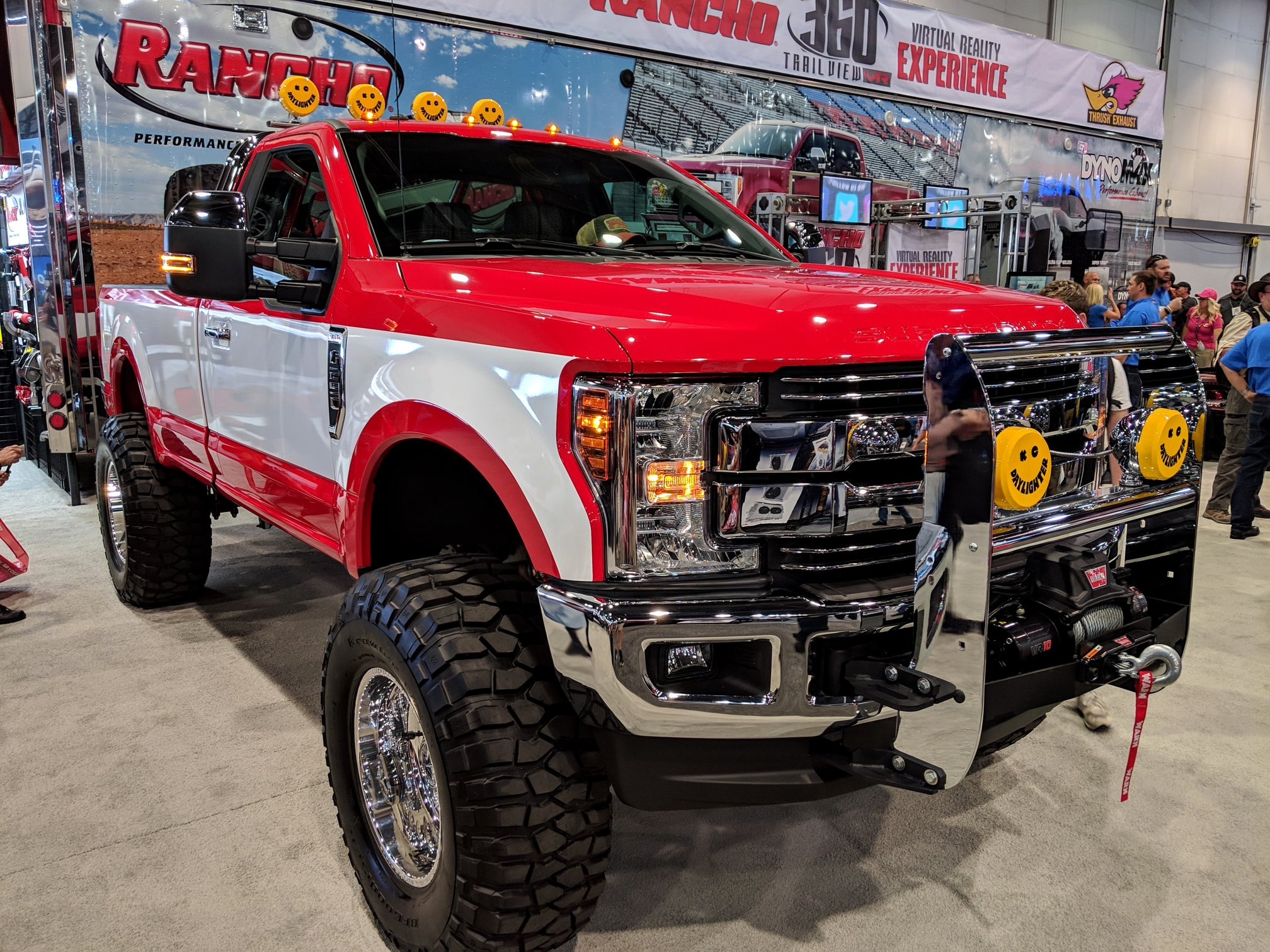 Ford F-250 Project TuTone by 4 Wheel Performance with KC lights at SEMA 2018