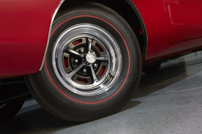 Red 1968 Dodge Charger Wheel