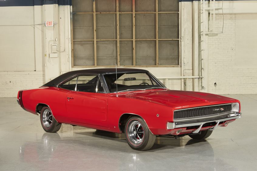 Red 1968 Dodge Charger