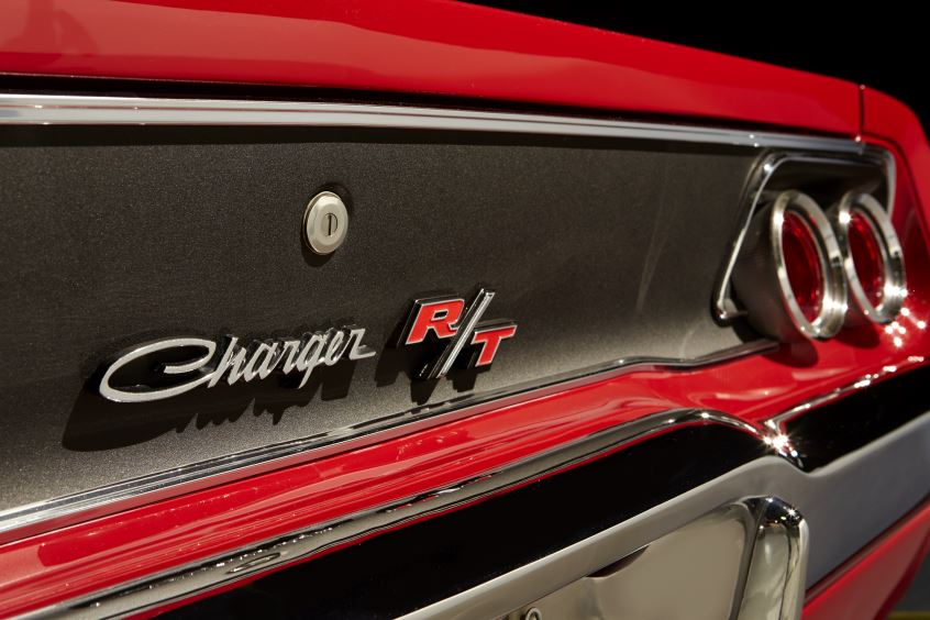 Front Grill of 1968 Red Dodge Charger