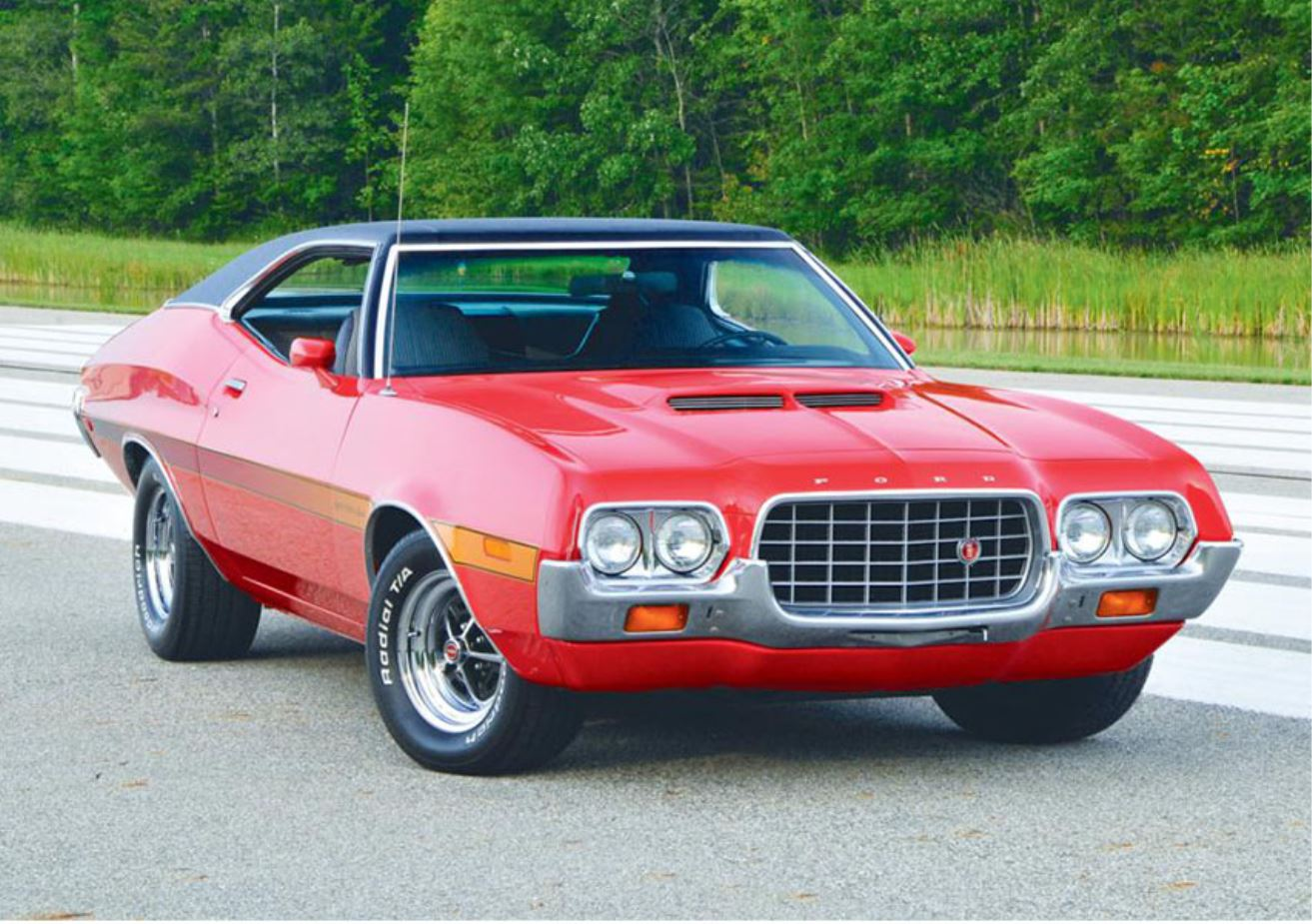 cars of 72 1972 ford gran torino team valvoline. Black Bedroom Furniture Sets. Home Design Ideas