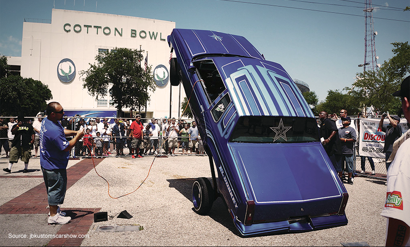 Our Top Cruising Spots In The Southwest Team Valvoline - Lowrider car show dallas